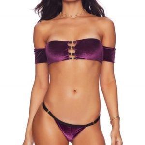 Beach Bunny Renegade Velvet Swimsuit Top XS